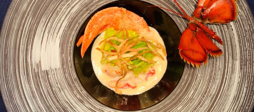 Maine Lobster Fricassee with Five Farms Apple and Calvados Sauce